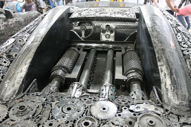 scrap metal supercars gallery of steel figures pruszkow poland 10 Scrap Metal Supercars (12 Photos)