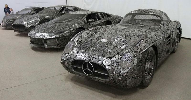 scrap metal supercars gallery of steel figures pruszkow poland 11 Scrap Metal Supercars (12 Photos)