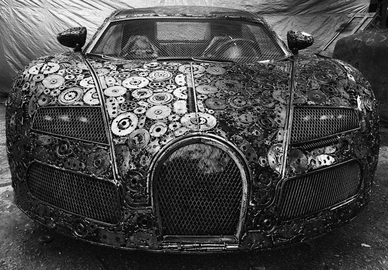 scrap metal supercars gallery of steel figures pruszkow poland 12 Scrap Metal Supercars (12 Photos)