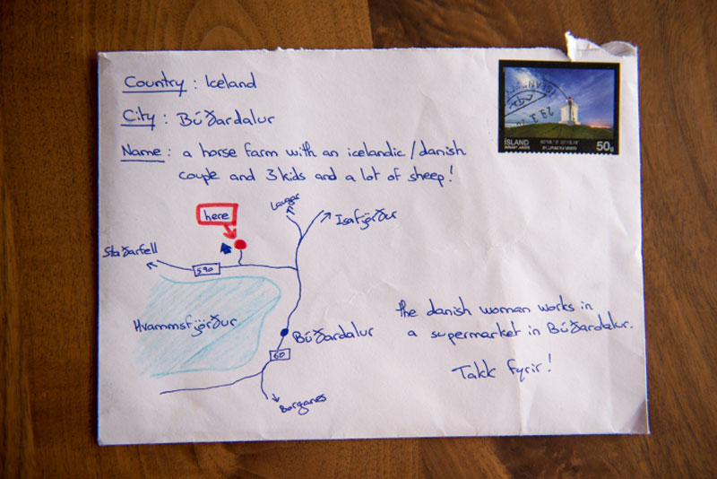 Tourist's Thank You Card with Hand Drawn Map and No Address Gets Delivered!
