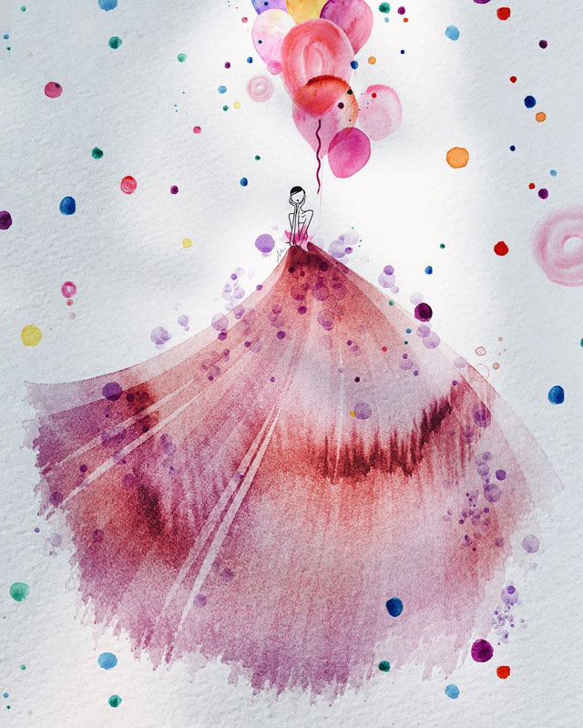 watercolor gowns by jaesuk kim instagram (5)