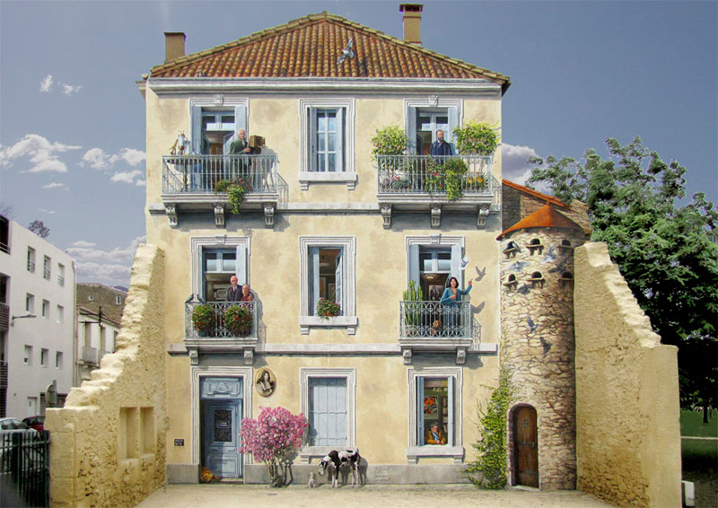 Patrick Commecy Transforms Building Facades Into 3D Works of Art