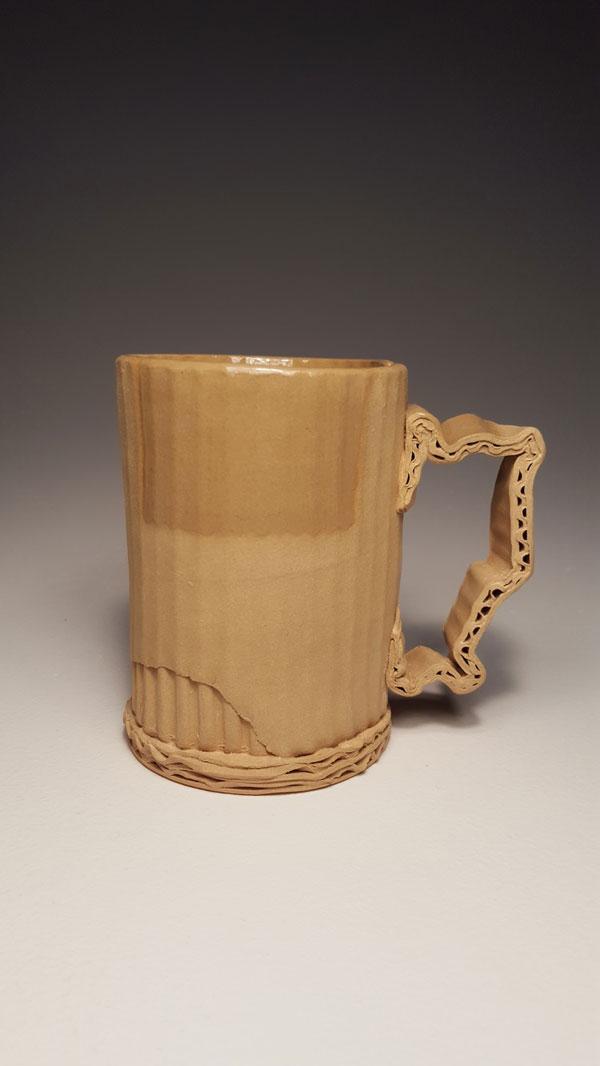 ceramic cardboard by tim kowalczyk 1 Ceramic Artist Tim Kowalczyk Can Make Clay Look Like Cardboard