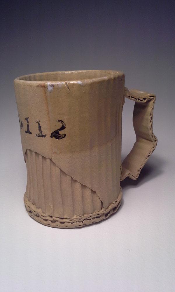 ceramic cardboard by tim kowalczyk 3 Ceramic Artist Tim Kowalczyk Can Make Clay Look Like Cardboard