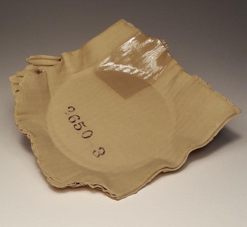 ceramic cardboard by tim kowalczyk 7 Ceramic Artist Tim Kowalczyk Can Make Clay Look Like Cardboard