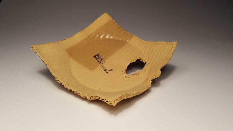 ceramic cardboard by tim kowalczyk 8 Ceramic Artist Tim Kowalczyk Can Make Clay Look Like Cardboard