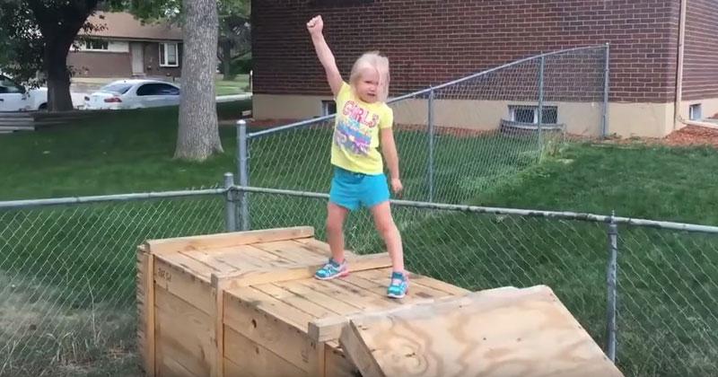 Dad Builds Backyard Ninja Warrior Course For His Daughter