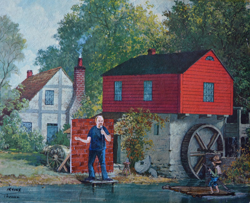 david irvine thrift store paintings 2 This Artist Adds Random Characters Into Discarded Thrift Store Paintings