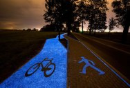 Solar-Powered, Glow in the Dark Bike Lanes are Being Tested in Poland