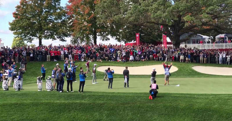 Heckler Gets Challenged to Make a Putt That Rory Just Missed and Drains It