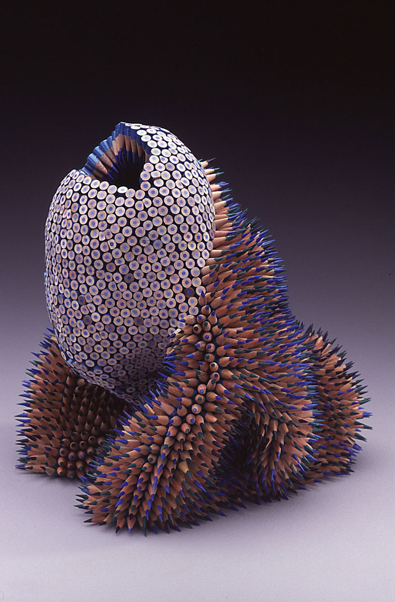 pencil sculptures by jennifer maestre 3 Jennifer Maestre Turns Ordinary Pencils Into Otherworldly Sculptures
