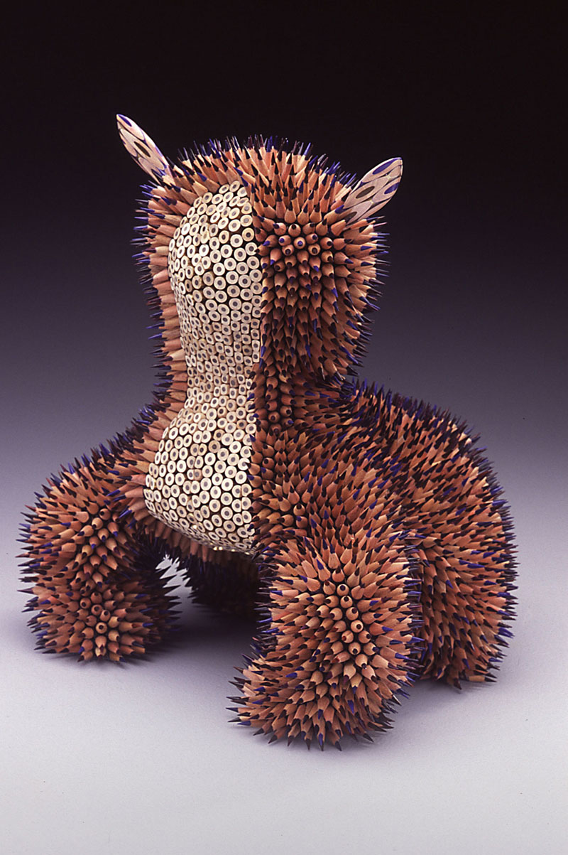 pencil sculptures by jennifer maestre 4 Jennifer Maestre Turns Ordinary Pencils Into Otherworldly Sculptures