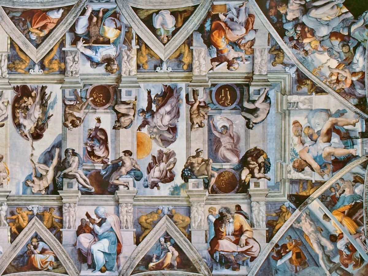 sistine chapel ceiling flattened 2 A Flattened View of the Incredible Sistine Chapel Ceiling