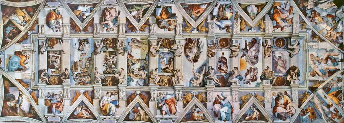sistine chapel ceiling flattened 3 A Flattened View of the Incredible Sistine Chapel Ceiling