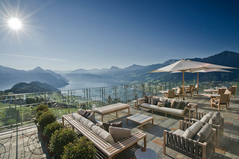stairway to heaven infinity pool hotel villa honegg switzerland 11 People are Calling This Rooftop Infinity Pool in the Swiss Alps the Stairway to Heaven