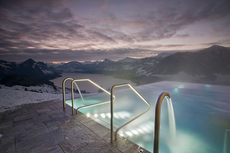 stairway to heaven infinity pool hotel villa honegg switzerland 17 People are Calling This Rooftop Infinity Pool in the Swiss Alps the Stairway to Heaven