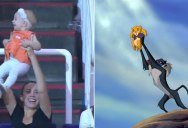 Instead of a Kiss Cam, this Arena has a Lion King Cam