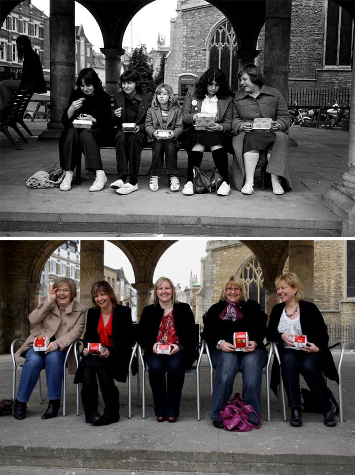reunions by chris porsz 3 Street Photographer Recreates Photos He Took in the 80s in Amazing Reunion Series