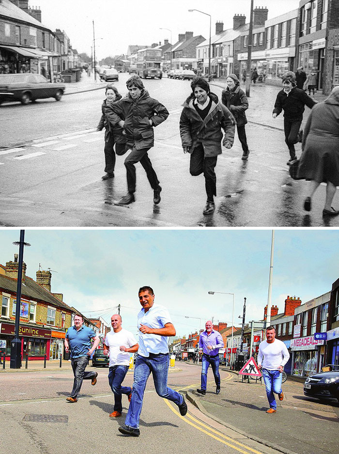 reunions by chris porsz 7 Street Photographer Recreates Photos He Took in the 80s in Amazing Reunion Series
