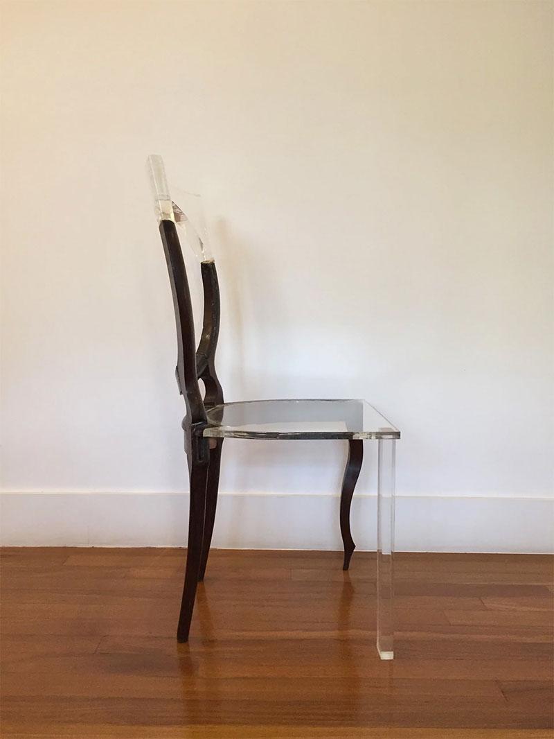 tatiane freitas fixes broken chairs with translucent acrylic 2 Tatiane Freitas Fixes Broken Chairs with Translucent Acrylic
