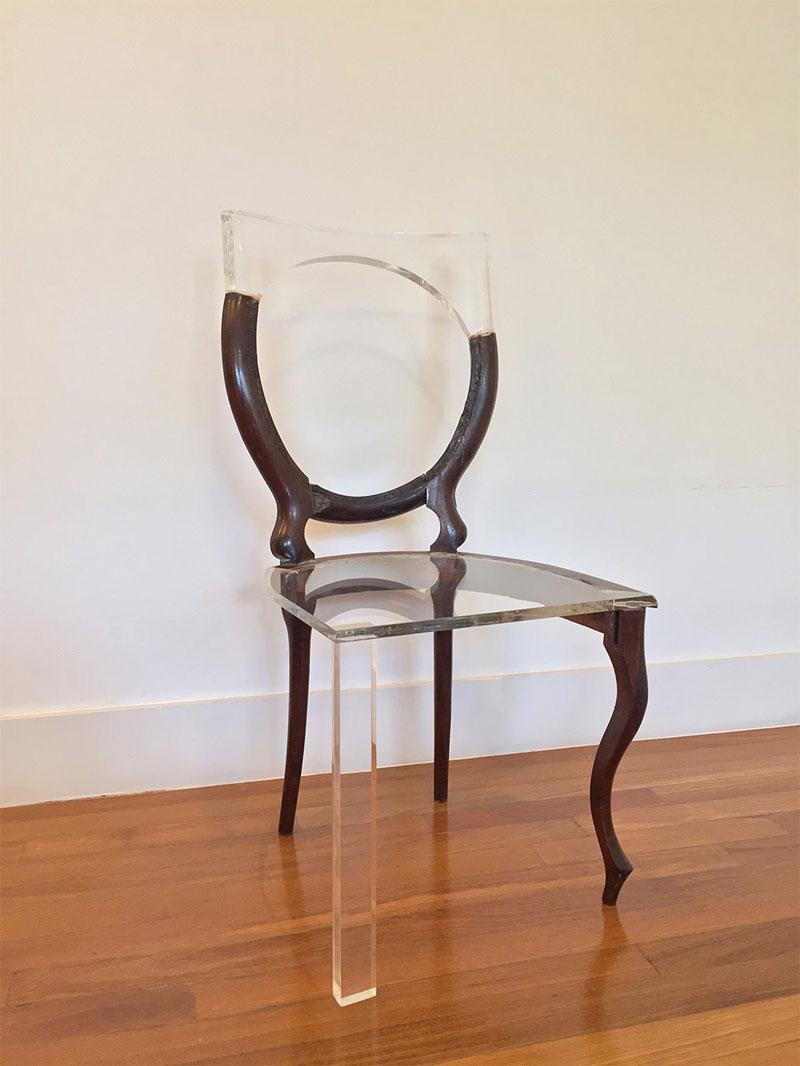 tatiane freitas fixes broken chairs with translucent acrylic 3 Tatiane Freitas Fixes Broken Chairs with Translucent Acrylic
