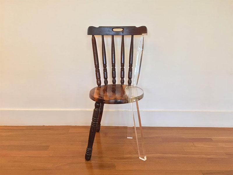 tatiane freitas fixes broken chairs with translucent acrylic 4 Tatiane Freitas Fixes Broken Chairs with Translucent Acrylic