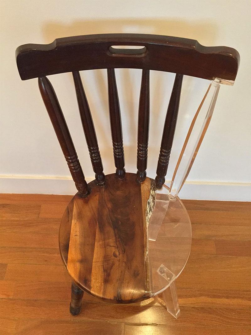 tatiane freitas fixes broken chairs with translucent acrylic 5 Tatiane Freitas Fixes Broken Chairs with Translucent Acrylic