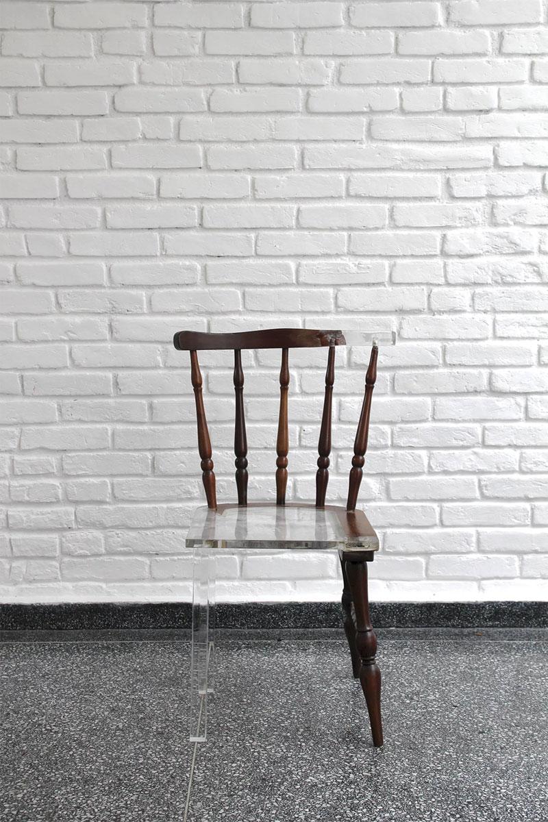 tatiane freitas fixes broken chairs with translucent acrylic 6 Tatiane Freitas Fixes Broken Chairs with Translucent Acrylic
