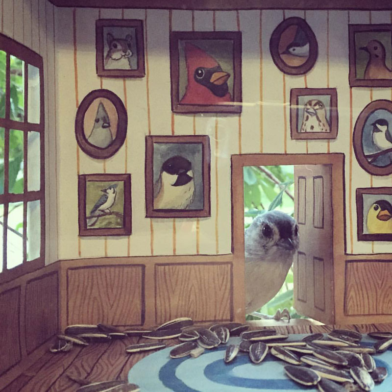 tiny homes for birds by jada fitch 8 This Woman Makes Tiny Homes for Her Wild Bird Friends