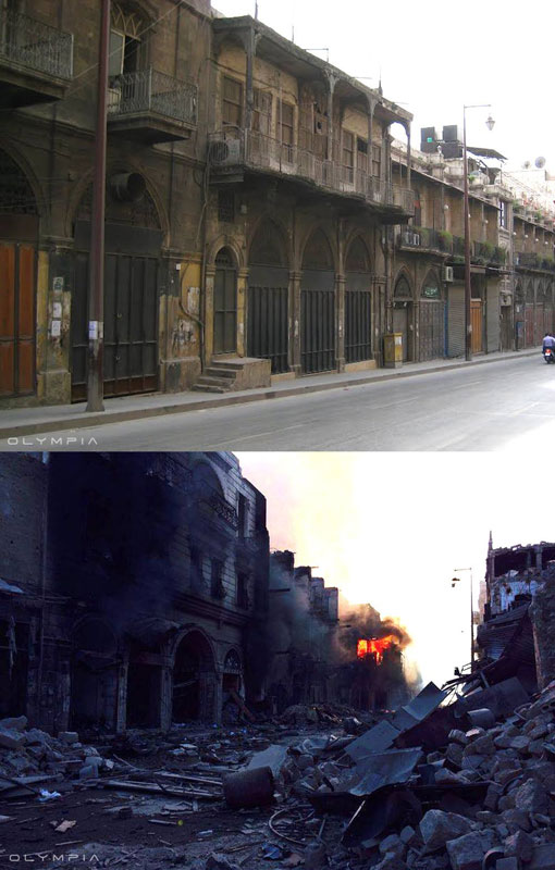a syrian restaurant is posting before and after photos of aleppo and its heartbreaking 13 A Syrian Restaurant is Posting Before and After Photos of Aleppo and Its Heartbreaking