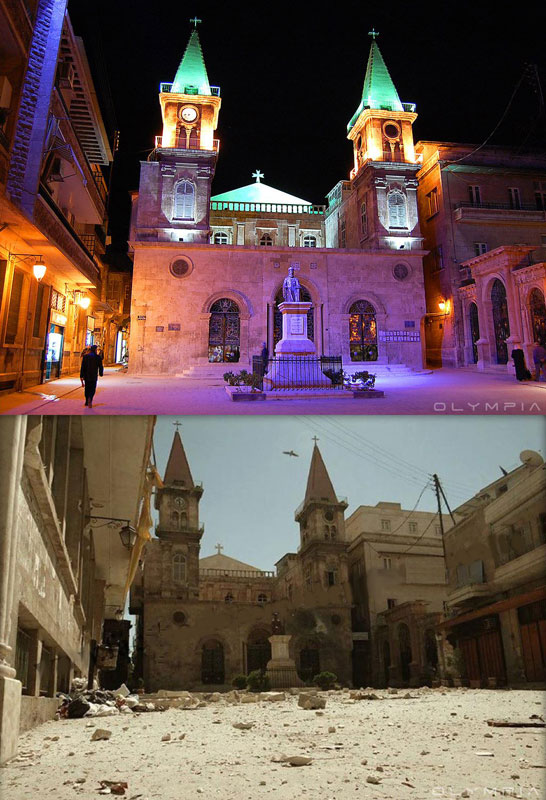 a syrian restaurant is posting before and after photos of aleppo and its heartbreaking 19 A Syrian Restaurant is Posting Before and After Photos of Aleppo and Its Heartbreaking