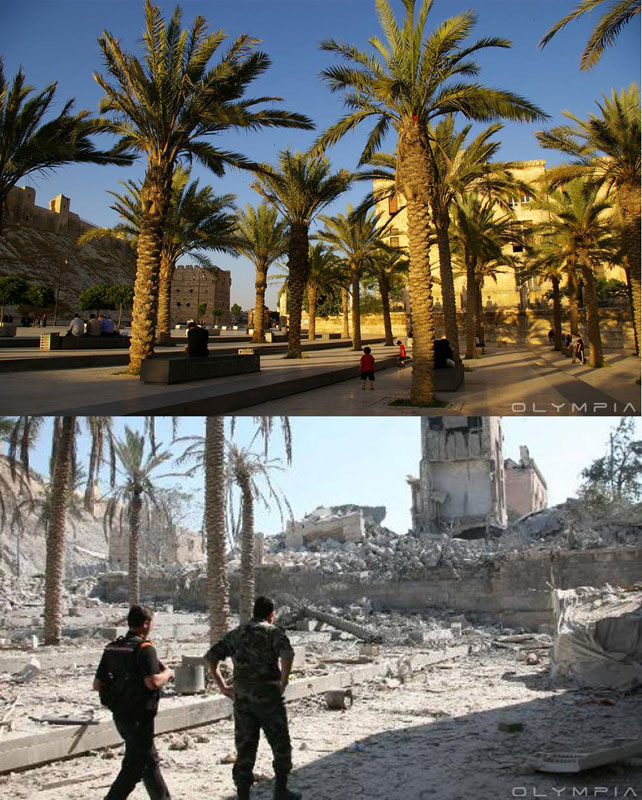 a syrian restaurant is posting before and after photos of aleppo and its heartbreaking 28 A Syrian Restaurant is Posting Before and After Photos of Aleppo and Its Heartbreaking
