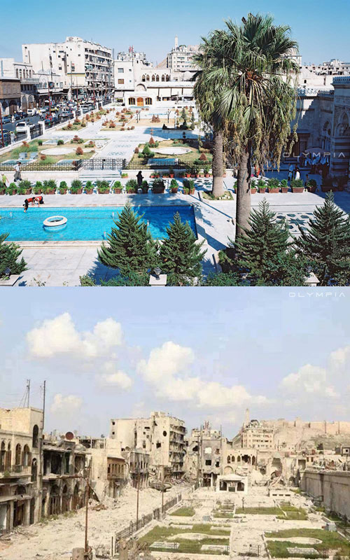 a syrian restaurant is posting before and after photos of aleppo and its heartbreaking 29 A Syrian Restaurant is Posting Before and After Photos of Aleppo and Its Heartbreaking