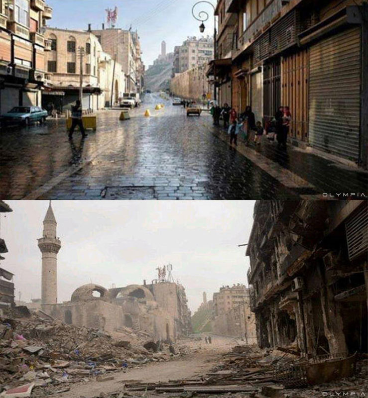 a syrian restaurant is posting before and after photos of aleppo and its heartbreaking 30 A Syrian Restaurant is Posting Before and After Photos of Aleppo and Its Heartbreaking