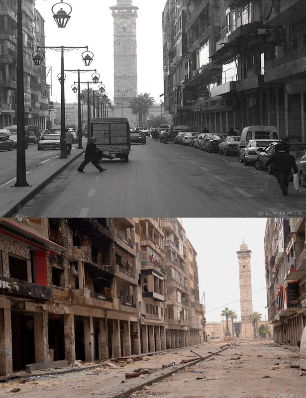a syrian restaurant is posting before and after photos of aleppo and its heartbreaking 31 A Syrian Restaurant is Posting Before and After Photos of Aleppo and Its Heartbreaking