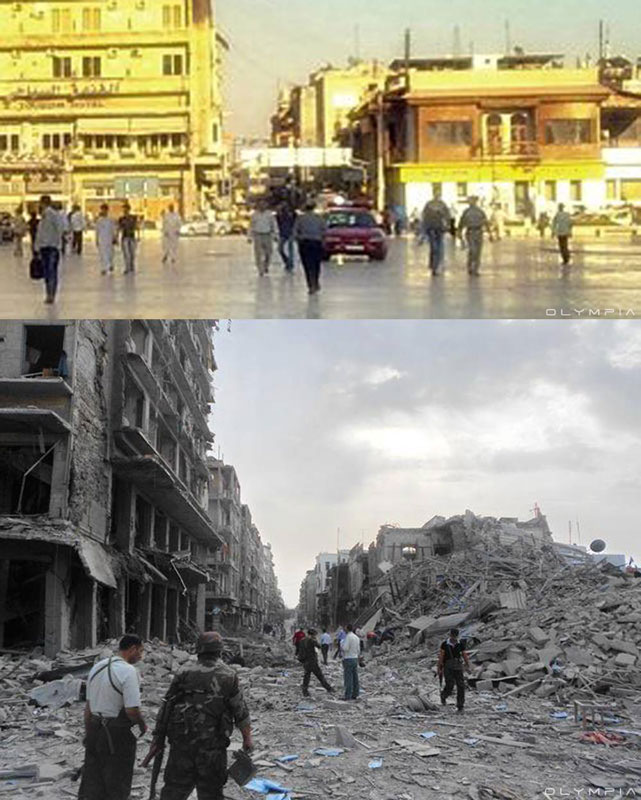 a syrian restaurant is posting before and after photos of aleppo and its heartbreaking 32 A Syrian Restaurant is Posting Before and After Photos of Aleppo and Its Heartbreaking