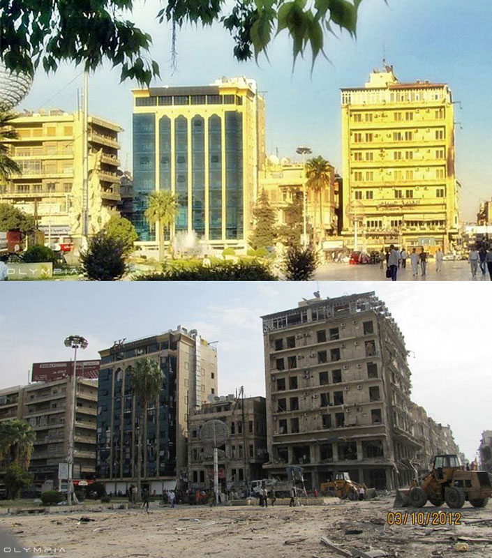 a syrian restaurant is posting before and after photos of aleppo and its heartbreaking 36 A Syrian Restaurant is Posting Before and After Photos of Aleppo and Its Heartbreaking