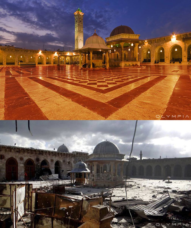 a syrian restaurant is posting before and after photos of aleppo and its heartbreaking 38 A Syrian Restaurant is Posting Before and After Photos of Aleppo and Its Heartbreaking