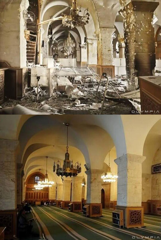 a syrian restaurant is posting before and after photos of aleppo and its heartbreaking 39 A Syrian Restaurant is Posting Before and After Photos of Aleppo and Its Heartbreaking