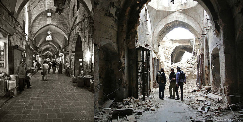 a syrian restaurant is posting before and after photos of aleppo and its heartbreaking 4 A Syrian Restaurant is Posting Before and After Photos of Aleppo and Its Heartbreaking