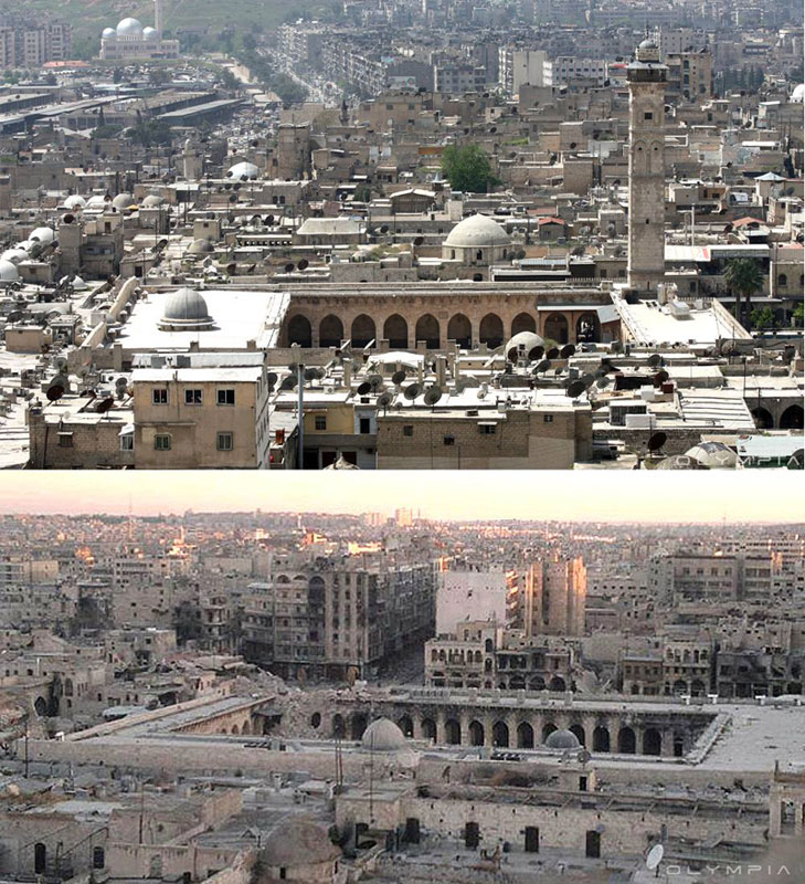 a syrian restaurant is posting before and after photos of aleppo and its heartbreaking 40 A Syrian Restaurant is Posting Before and After Photos of Aleppo and Its Heartbreaking