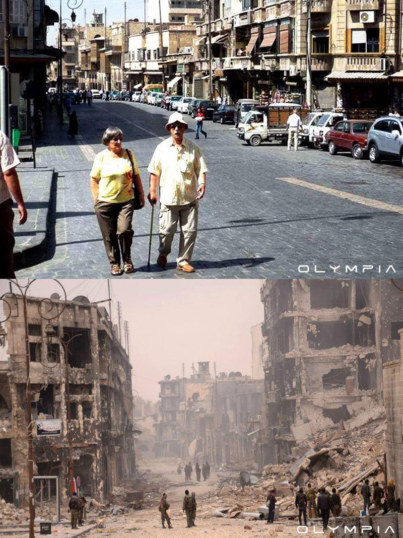 a syrian restaurant is posting before and after photos of aleppo and its heartbreaking 5 A Syrian Restaurant is Posting Before and After Photos of Aleppo and Its Heartbreaking