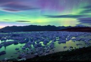Picture of the Day: Aurora Borealis Over Iceland's Jokulsarlon Glacier Lake