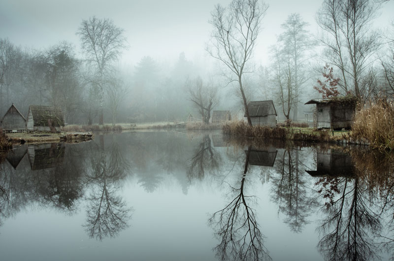 fishing lake in hungary looks frozen in time 5 This Hungarian Fishing Lake Looks Frozen in Time (11 Photos)