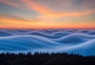 Photographer Captures Fog Waves That Look Like Oceans in the Sky