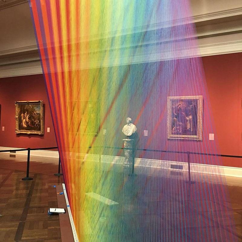 gabriel dawe threaded rainbow plexus 35 toledo museum of art 6 Gabriel Dawes Threaded Rainbows are Beautiful