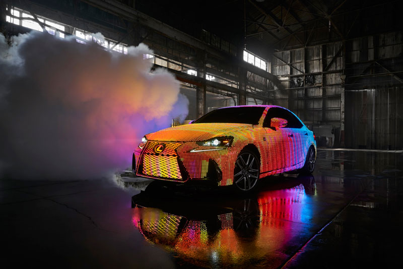 led lexus 1 This Lexus Wrapped in 42,000 LEDs is Definitely Not Street Legal