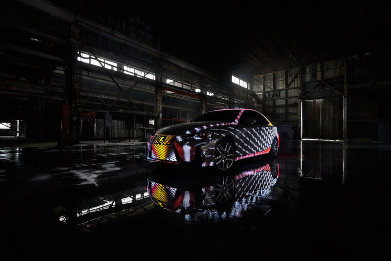 led lexus 6 This Lexus Wrapped in 42,000 LEDs is Definitely Not Street Legal