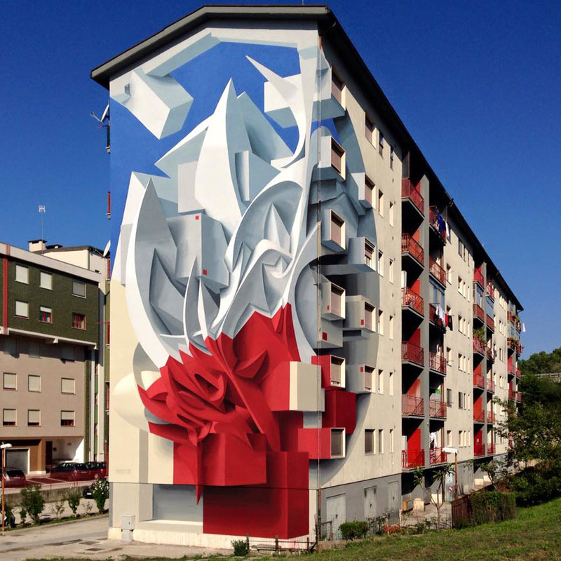 peeta draw the line 2016 campobasso italy building mural Picture of the Day: Peeta Goes BIG in Campobasso, Italy