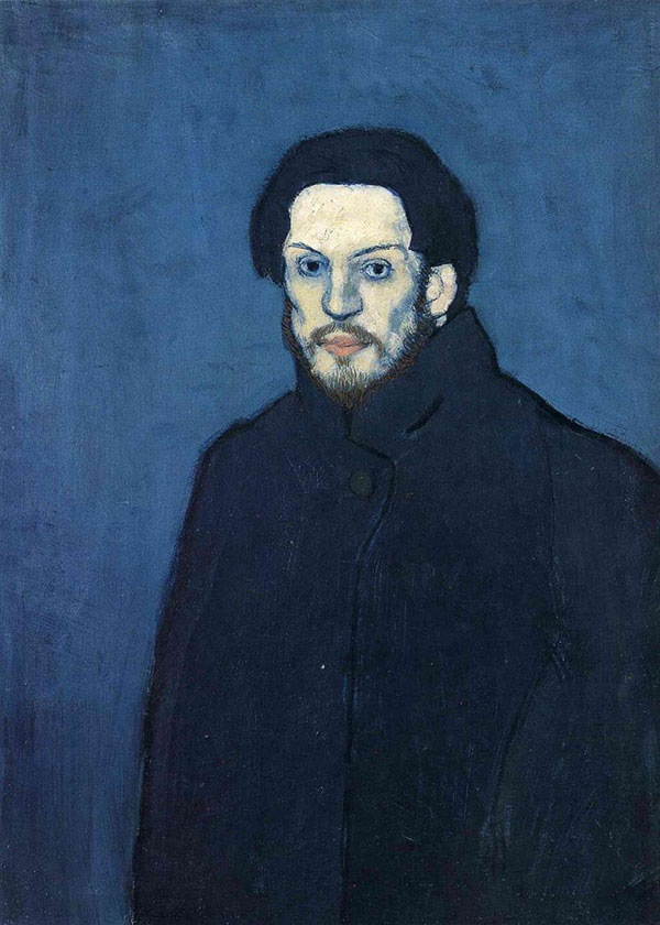picasso self portrait 20 years old 1901 Picassos Self Portraits from 15 Years Old to 90 Year Old